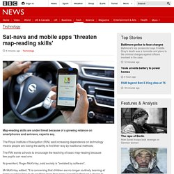 Sat-navs and mobile apps 'threaten map-reading skills' - BBC News