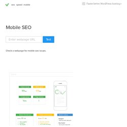 Mobile SEO - The tool and optimization guide