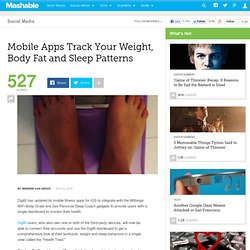 Mobile Apps Track Your Weight, Body Fat and Sleep Patterns