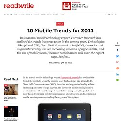 10 Mobile Trends for 2011