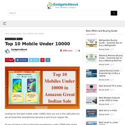 Buy Top Mobile Under 10000 in Amazon Great India Sale