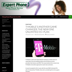T-Mobile's New ONE Unlimited 55+ Plan