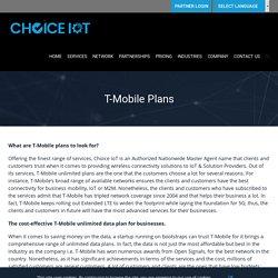 T-Mobile Unlimited Internet Plans, T-Mobile Unlimited Internet Data Plans
