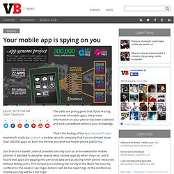 Your mobile app is spying on you