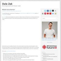 Dale Zak: Mobile Volunteerism