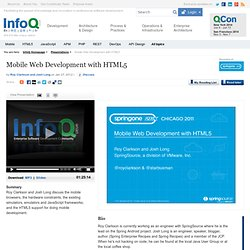 Mobile Web Development with HTML5