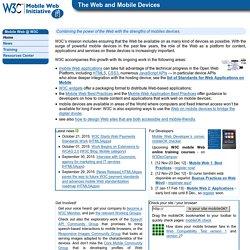 Mobile Web @ W3C
