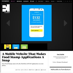 A Mobile Website That Makes Food Stamp Applications A Snap