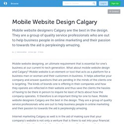 Mobile Website Design Calgary