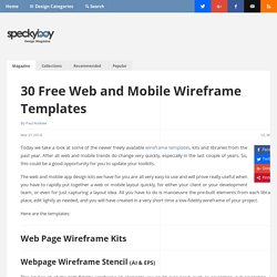 30 Free Web and Mobile Wireframe Templates
