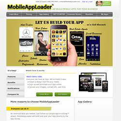 Build iPhone, iPad & Android Apps