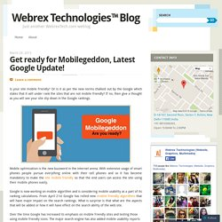 Get ready for Mobilegeddon, Latest Google Update!