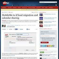 MobileMe to iCloud migration and calendar sharing