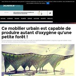 Ce mobilier urbain est capable de produire autant d'oxygène qu'une petite forêt
