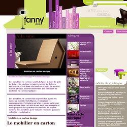 Mobilier en carton design