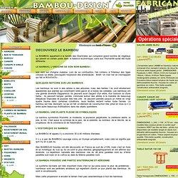 Mobilier exotique bambou meubles design