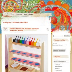 Mobilier – Le coin Montessori