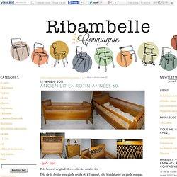 Ancien lit en rotin années 60. - Mobilier vintage pour enfants, Ribambelle & Compagnie.