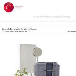 Le mobilier textile de Meike Harde.