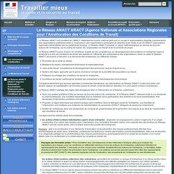 Les ressources mobilisables - Le Réseau ANACT ARACT (Agence Nationale et Associations Régionales pour l'Amélioration des Conditions de Travail)