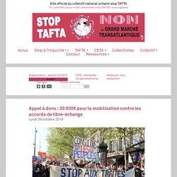 Appel à dons : 30 000€ pour la mobilisation contre les accords de libre-échange
