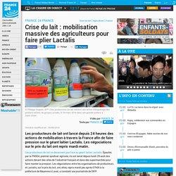 Crise du lait : mobilisation massive des agriculteurs pour faire plier Lactalis