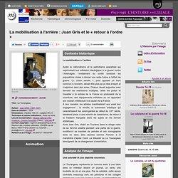 La mobilisation à l'arrière : Juan Gris et le « retour à l'ordre »