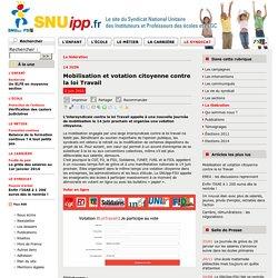 Mobilisation et votation citoyenne contre la loi Travail