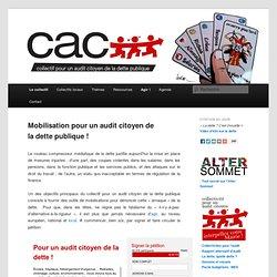 Mobilisation pour un audit citoyen de la dette publique !