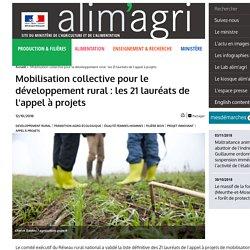 Mobilisation collective pour le développement rural : les 21 lauréats de l'appel à projets