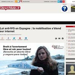 Loi anti-IVG en Espagne: la mobilisation s'étend sur internet - monde