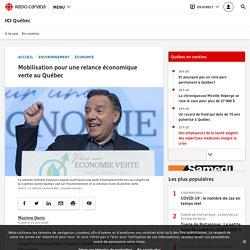 Mobilisation pour une relance économique verte au Québec