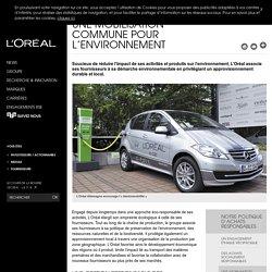 Une mobilisation commune pour l'environnement -L'Oréal Groupe