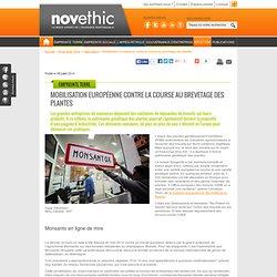 Mobilisation européenne contre la course au brevetage des plantes