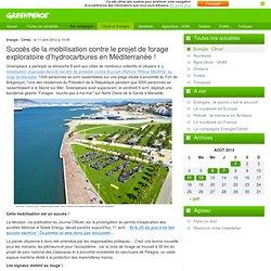 2012 : Succès de la mobilisation contre le projet de forage exploratoire d'hydrocarbures en Méditerranée