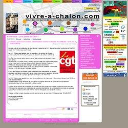 26/07 Union Locale CGT Chalon : Mobilisation contre la réforme de l'UNEDIC - avec les intermittents