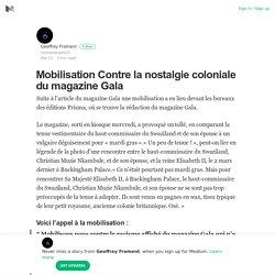Mobilisation Contre la nostalgie coloniale du magazine Gala