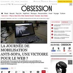 La journée de mobilisation anti-SOPA, une victoire pour le web ? - Vu sur le web - Nouvelobs.com