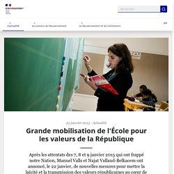 Grande mobilisation de l'École pour les valeurs de la République