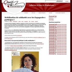 Mobilisation de solidarité avec les Espagnoles : participez
