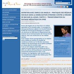 Entretien avec Enrico De Angelis – Pratiques des réseaux sociaux dans la mobilisation syrienne contre le régime de Bachar al-Assad. Partie 2 : transformation du paysage médiatique en Syrie