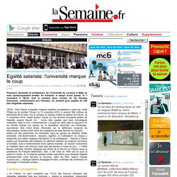 Mobilisation sur le campus du Saulcy à Metz Egalité salariale: l'université marque le coup