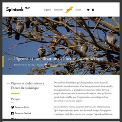 Pigeons et mobilisations à l'heure du numérique