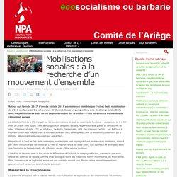 Mobilisations sociales : à la recherche d'un mouvement d'ensemble