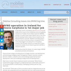 Mobilise Consulting moves into MVNO big time