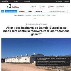 """Allier : des habitants de Barrais-Bussolles se mobilisent contre la réouverture d'une """"porcherie géante"""""""