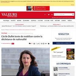 Cécile Duflot tente de mobiliser contre la déchéance de nationalité