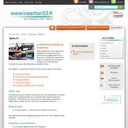 Mobilité - Les actions - Insertion en Mayenne