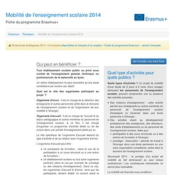 Mobilité de l'enseignement scolaire 2014