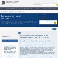 La mobilité sociale des femmes et des hommes: évolutions entre 1977 et 2015 − France, portrait social